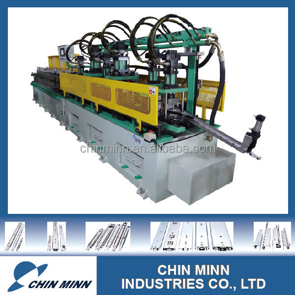 Brand-new roll forming machine of multi stands punching for Bottom drawer runners
