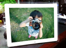"new design 17"" LCD picture music video loop play 3D digital photo frame"