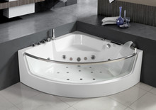 2016 new design beautiful acrylic portable massage bathtub for adults luxury whirlpoor bathtub with certificates