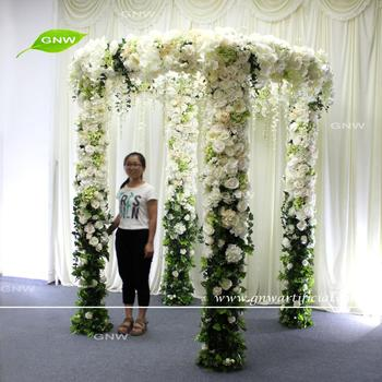 GNW FLWA1708001-1 Artificial flowers wedding entrance arch designs