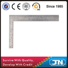 SS420 steel construction try square, inch and mm etched graduations