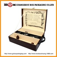 wholesale high quality rectangle wooden wine bottle carrier