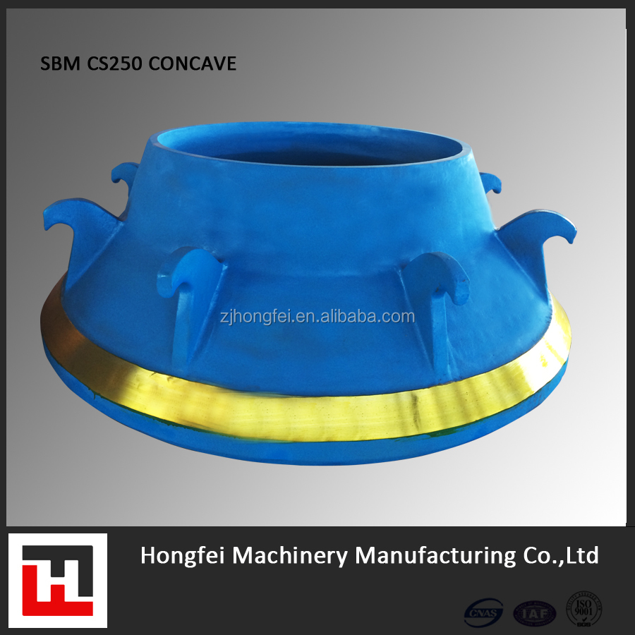 SBM CONCAVE MANTLE AND BOWL LINER FOR CONE CRUSHER