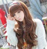 Fashion Cosplay Brown/Black Wig Women Wavy Curly Hair Party Long Full Wig+ Cap