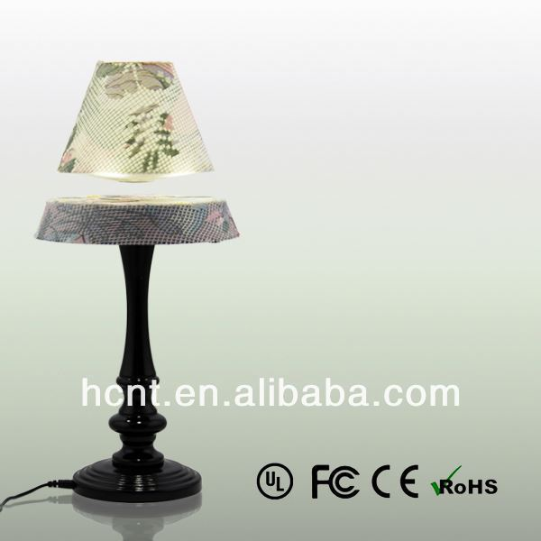New Invention ! Electromagnetic levitating desk light, lampara de mesa dirigido