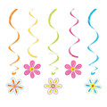 Hawaiian Flower Hanging Swirls Decoration Ceiling Hanging Decorations