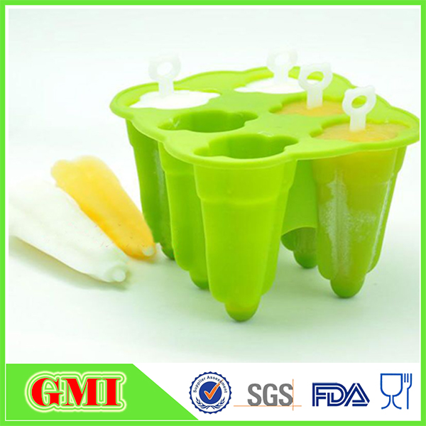Colorful Candy Color Silicone Popsicle Mold/Silicone Ice Lolly Moulds/Silicone Ice Cream Pop Maker