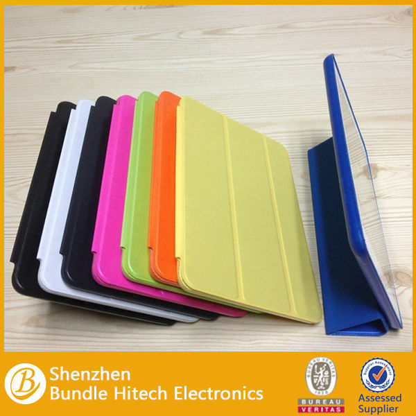 double smart cover for new ipad air with back pc cover