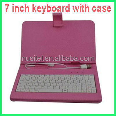 Good quality black 7 inch keyboard with case 7 inch tablet case keyboard
