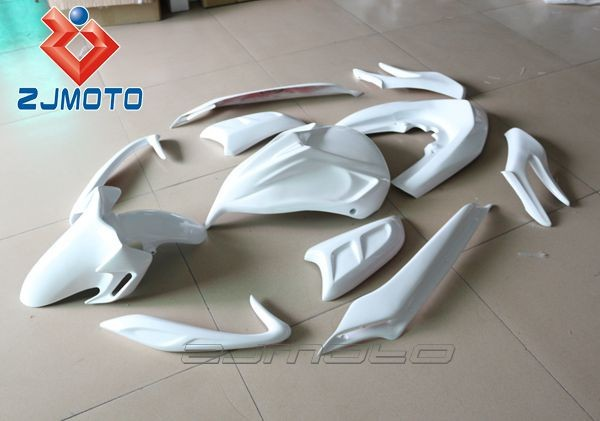 ZJMOTO FRP Motorcycle Bodywork Fairing Scooter body kit For PCX 125 FRP FRP Racing Fairing Body Kits Cover (HRH) Made in China