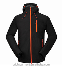 Black Spring Warm Outdoor Softshell Jacket made in China