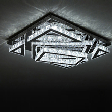 ceiling lights modern lustres rectangle Crystal Ceiling Light from Zhongshan