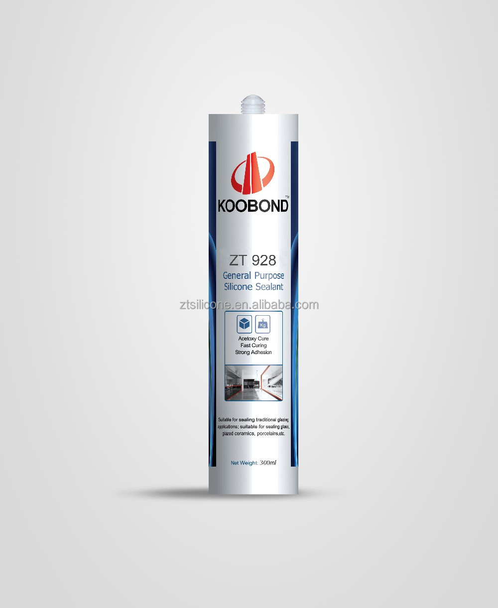 Acetoxy cure transparent silicone sealant for building