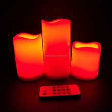 Square Moving Wick Flameless Candle LED wax candle light