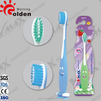 Beautiful wholesale 3d wall mounted kids toothbrush with suction cup