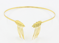 H794-352 the latest new design hair accessories gold metal leaf headband with combs