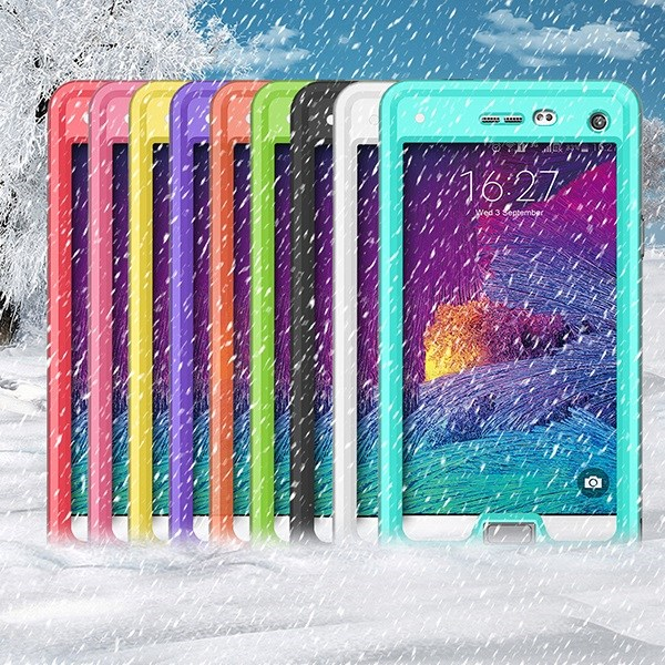 3 in 1 combo hybrid shockproof case for Samsung Galaxy Note 4 waterproof