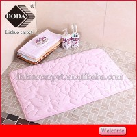 Hot sale Eco-friendly shaggy 3d embossing machine mini coral fleece mat