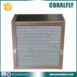 Deep-pleat high efficiency filter operating room hepa filter