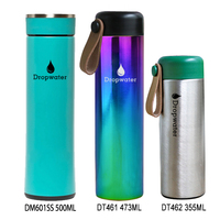 Promotional 18/8 stainless steel coffee thermos bottle vacuum insulated double wall water bottle with screwed lid