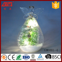 wholesale decorative light up glass angel