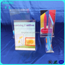 High quality table clear acrylic magnet display for menu,leaflet, flyer,etc