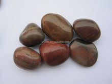 High Polished Shining Pretty Red Pebble Stone