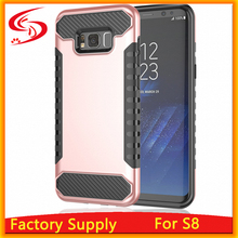 Heavy Duty 2 in 1 TPU with PC Case Hybird Hard Armor Case for Samsung S8 Back Cover Case