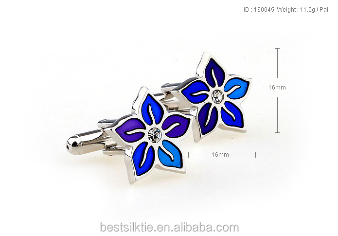 Make custom Blooming cufflink flower cufflink for suit