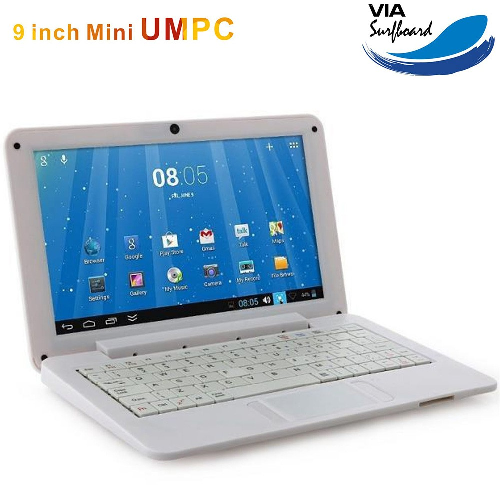 9 inch Dual Core 1.5GHZ Cheap Ultra Slim Mini laptop 512MB RAM 4GB ROM Netbook