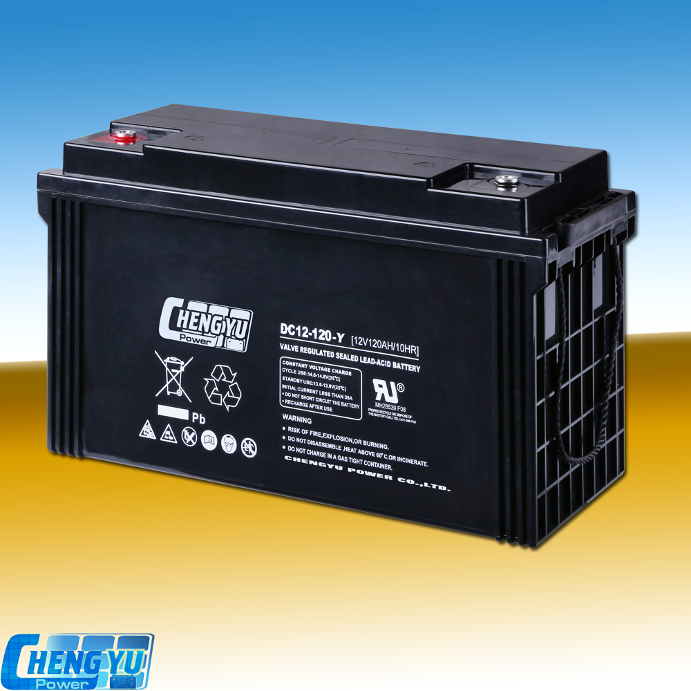 High quality Deep cycle AGM/ GEL lead acid battery 12v120ah for UPS/ solar system/ Telecommunication