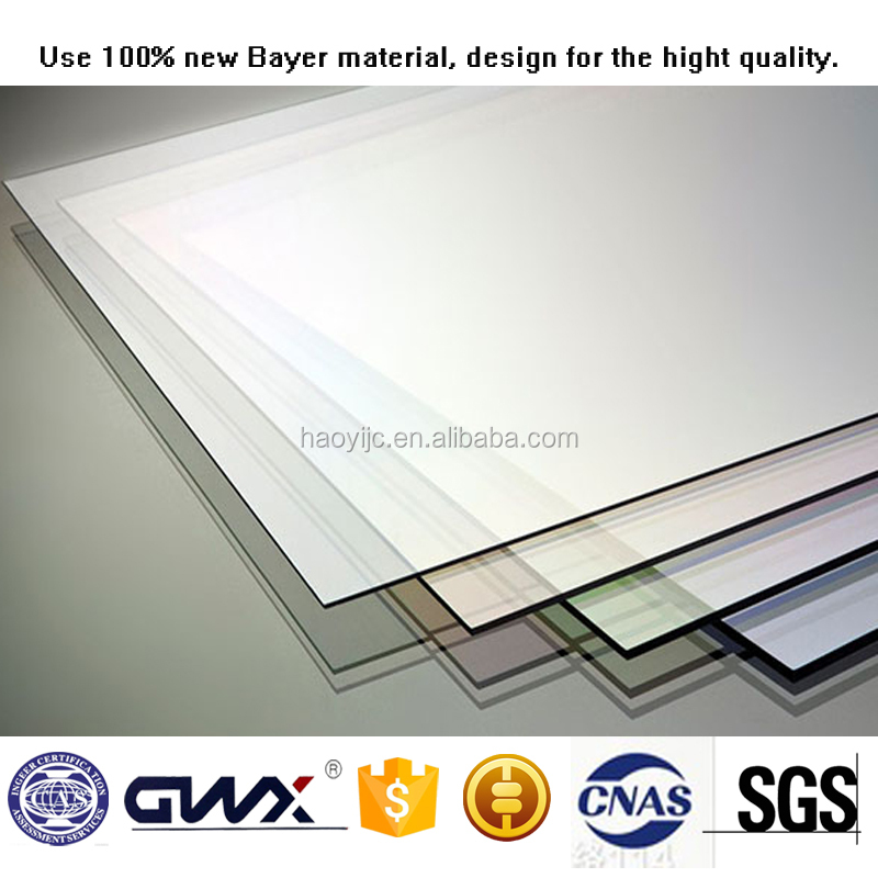 Polycarbonate Constructional material soft textile Lexan solid sheets price