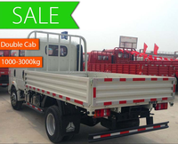 China light trucks HOWO 4*2 double cab mini cargo truck