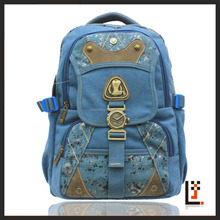 wholesale High school jeans shoulder school bag funky school bag