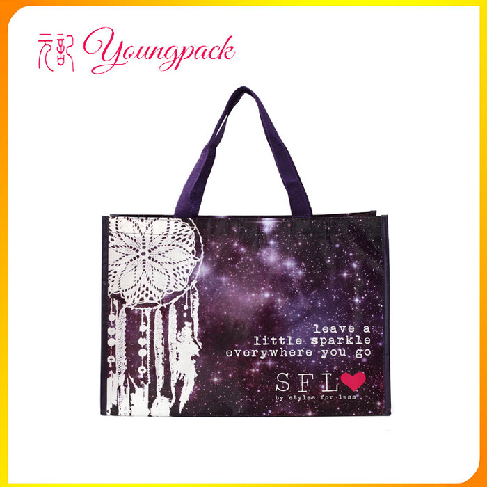 Promotional full color printing grocery shopping bags