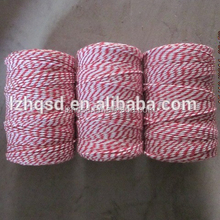 colored decorative single ply twisted cotton rope , 3 strand cotton twine
