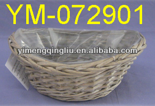 Boat Shaped Small Willow Garden Basket