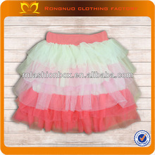 Sweet 2014 Baby Girls Puffy Pleated Skirt Colorful Girls's Short Dress Beautiful Young Girls In Short Skirts