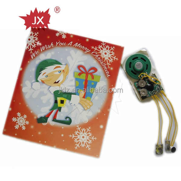 Electronics component voice recorder cards with merry Christmas song