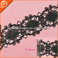 special design chinese knot pattern cotton trim lace for dress
