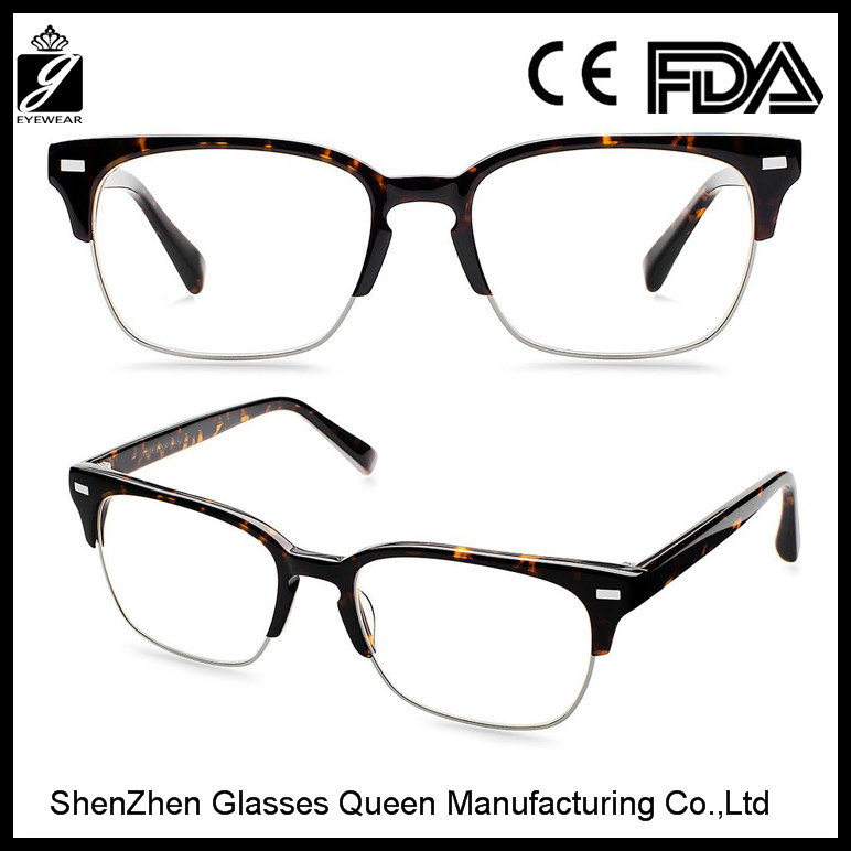 2016 Latest new designer brand half frame optical frames ,high quality spectacles(GQ1567)