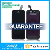Hot sale with back cover lcd screen replacement for apple iphone 5c digitizer