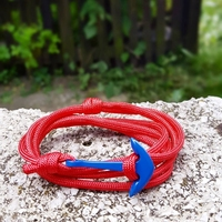 Street Style s Mens Style Wrist Game Handmade Paracord Rope Anchor Nautical Bracelets For Men