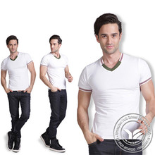 washed Guangzhou spandex/cotton t shirt whole