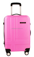 travel trolley hard case/shell/luggage/bag with plastic