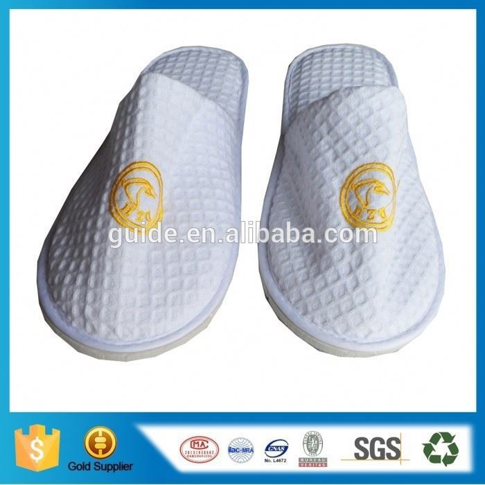 Nonwoven Weave Slippers Hotel Slipper Disposable Waffle Weave Slippers