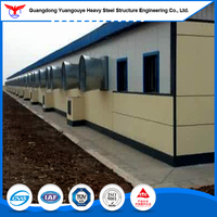 Metal Steel Structure Prefab house /Prefabricated Poultry Farm Shed House for Kuwait Project