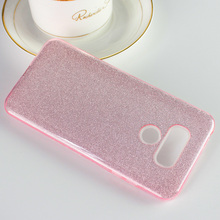 Luxury Hybrid Armor Slim Drop Protective Back Cover Shinning Clear TPU Bling Crystal Glitter Case for LG MS210