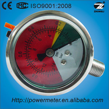 (YBF-50) 50mm color dial liquid negetive pressure flush gauge