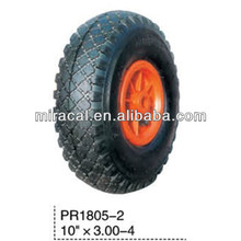PR1805-2 Top plastic hub rubber wheel 3.00-4 made in China